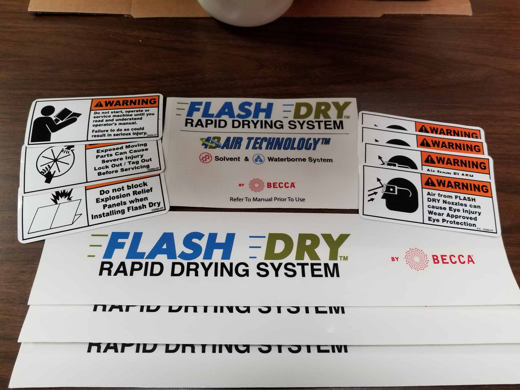 Flash Dry Decal Kit Flash Dry Parts