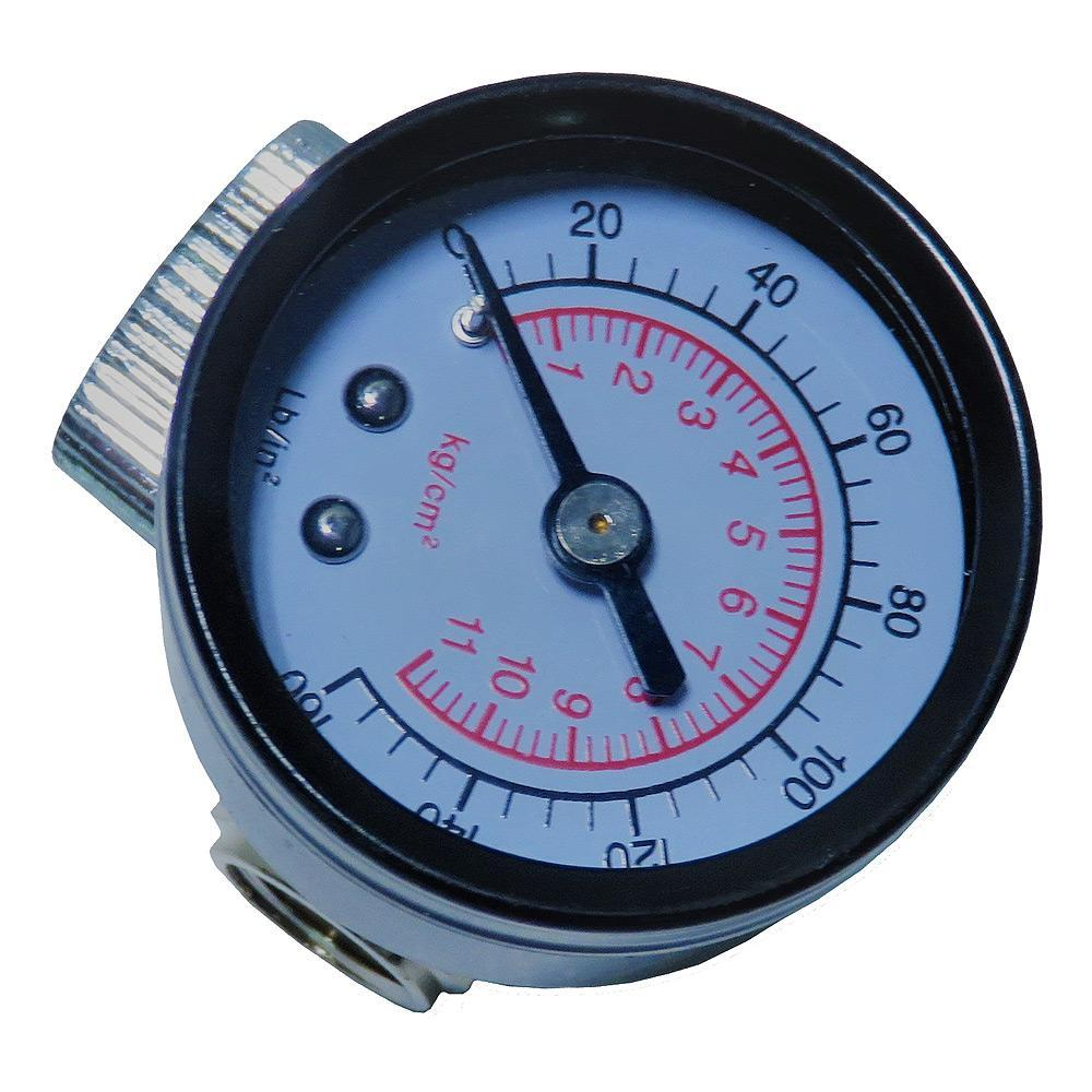 Cheater Regulator & Gauge For Spray Guns (0-160 Psi) Air