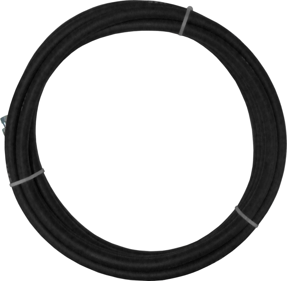 1/4 Fluid Hose - Black (750 Psi) 500 Reel Fittings: Not Included
