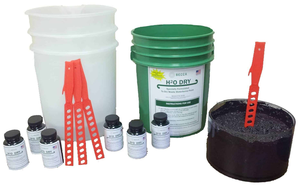 H2O Dry System For Waste Waterborne Paint Becca Consumables