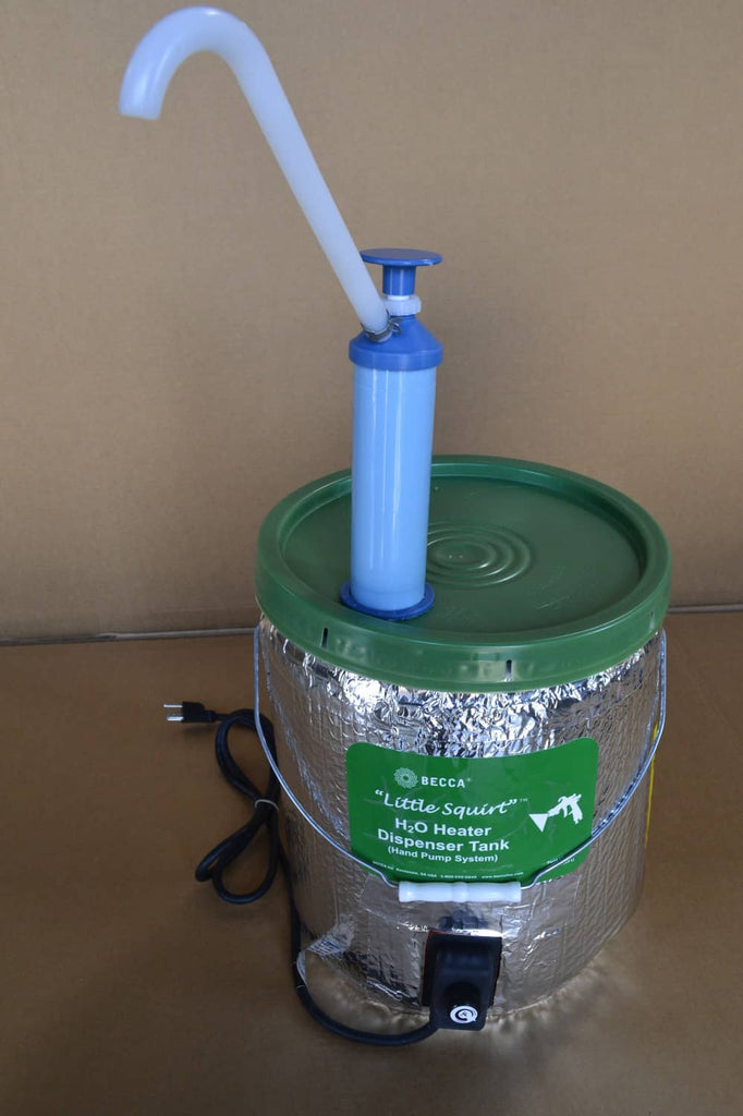 Little Squirt Heat Dispensing Tank With Hand Pump Becca Parts