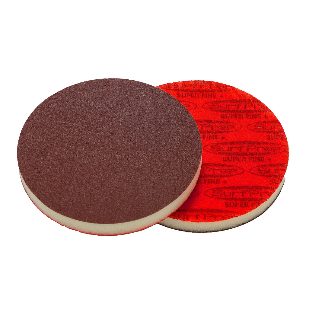 5 Surfprep Pads - 1/2 Thick (Premium Red A/o) Non-Vacuum / Coarse (60-80 Scratch) Sanders