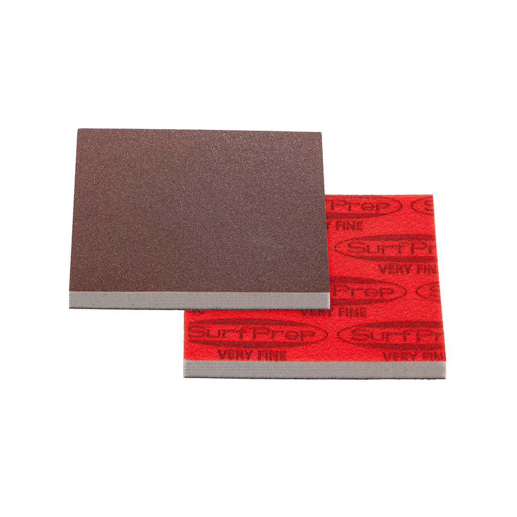 3 X 4 Surfprep Foam Pads - 10Mm Thick (Premium Red A/o) Non-Vacuum / Coarse (60-80 Scratch) Sanders