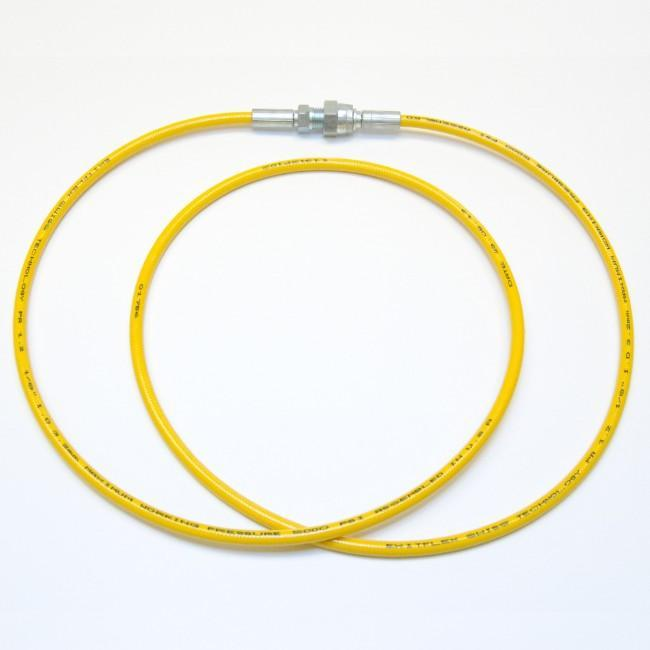 1/8 Airless Hose Yellow (5000 Psi) 1/4 Female X Male / 5