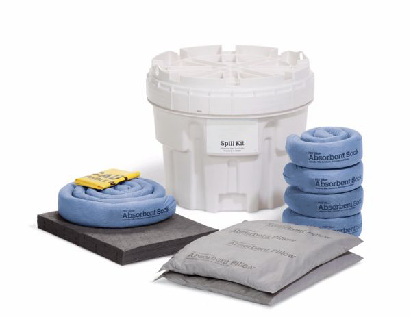 Spill Kit In 20-Gallon Overpack Salvage Drum