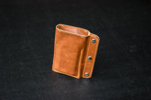 Buttoned Leather Watch Case