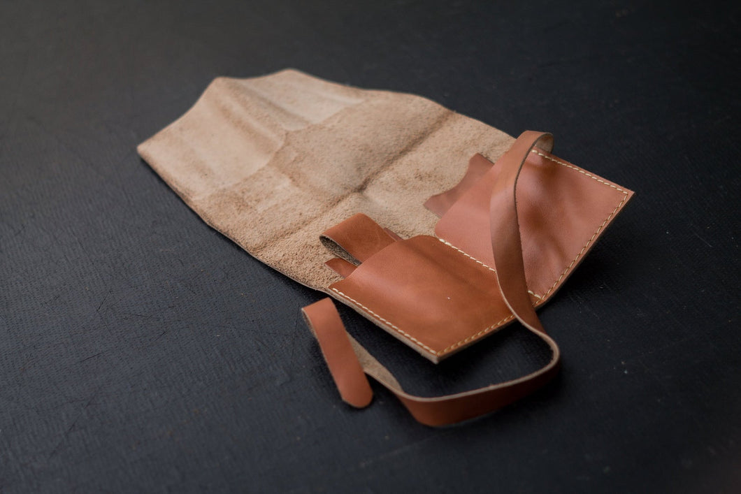 Leather Watch Roll (Tan)