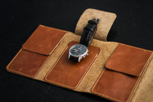 Load image into Gallery viewer, Leather Watch Roll (Individual Pockets)