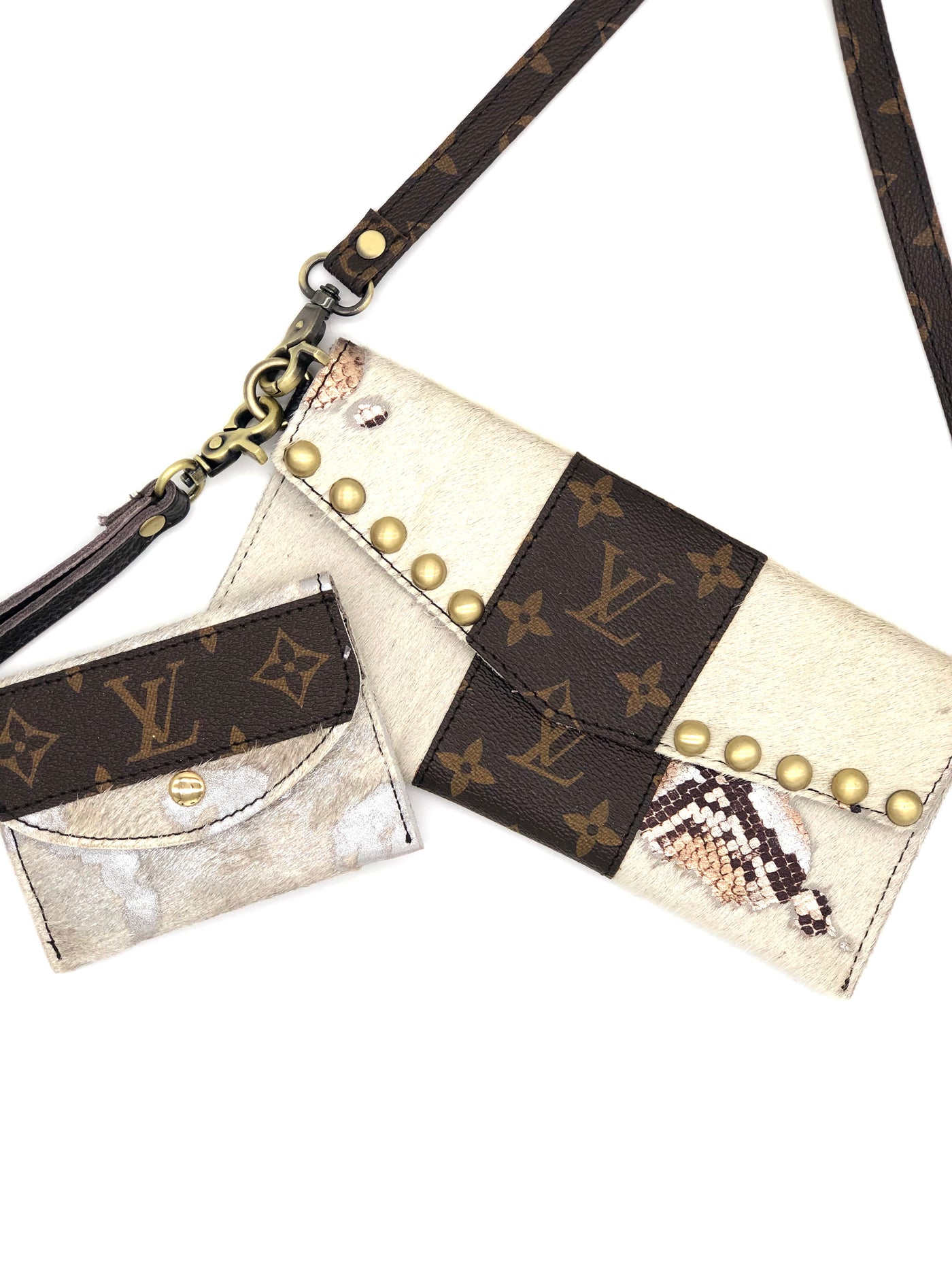 Repurposed Louis Vuitton LV bags from Gypsy Junkies/Jaded Gypsy.