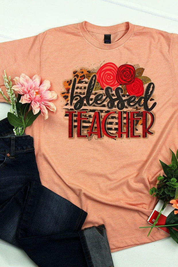 Blessed Teacher Graphic Tee - Large