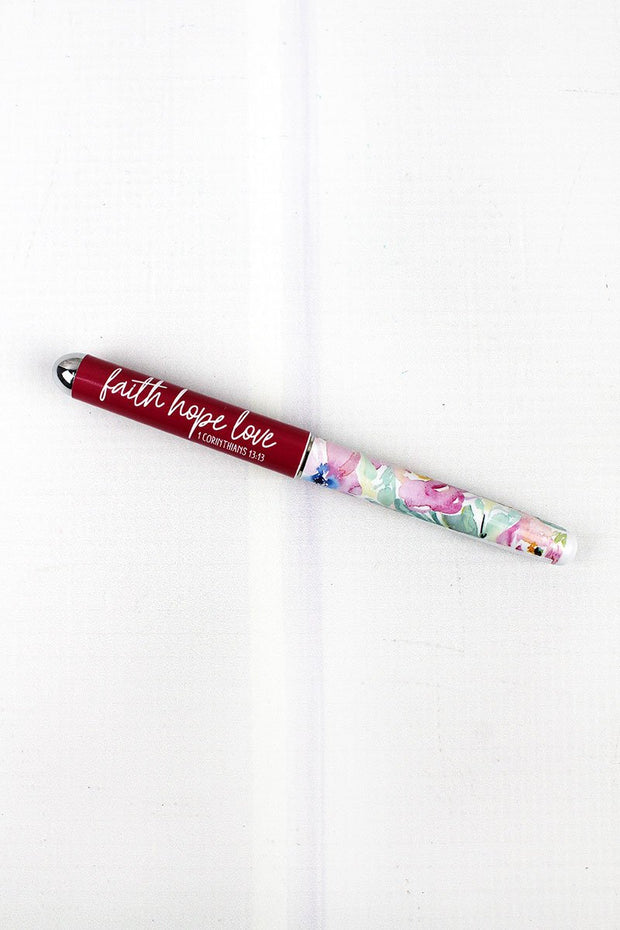 Faith Hope Love Rollerball Pen - Fruit of the Vine