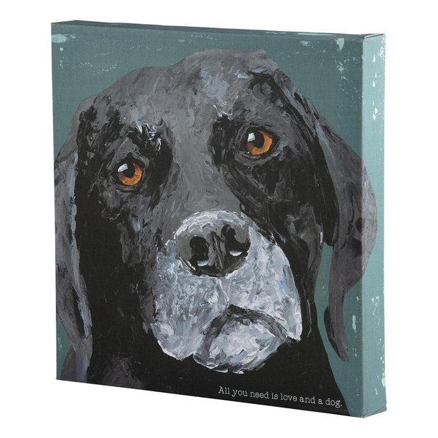 All You Need is Love and a Dog Canvas | Fruit of the Vine Boutique