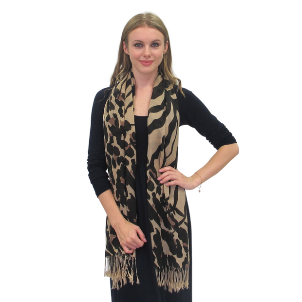 Abstract Zebra Print Scarf
