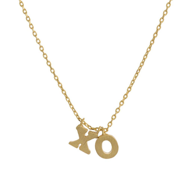 XO Pendant Necklace Gold - Fruit of the Vine