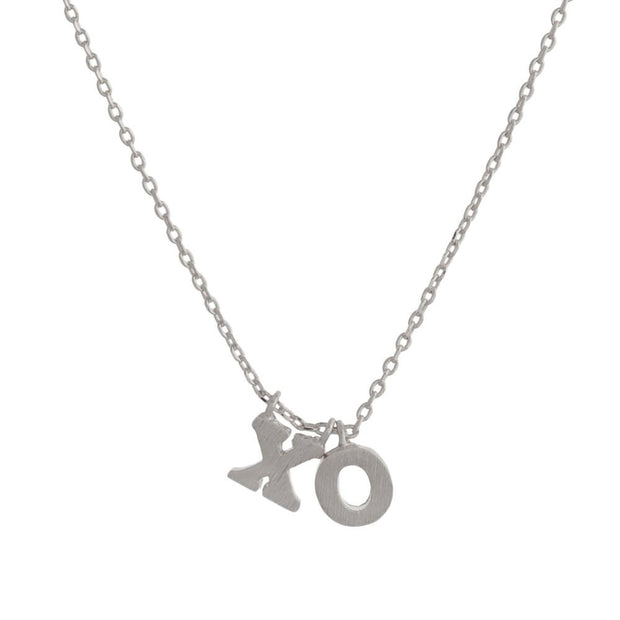 XO Pendant Necklace Silver - Fruit of the Vine