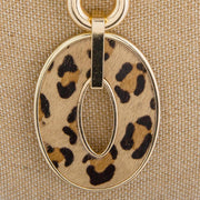Gold Chunky Chain with Leopard Pendant - Fruit of the Vine