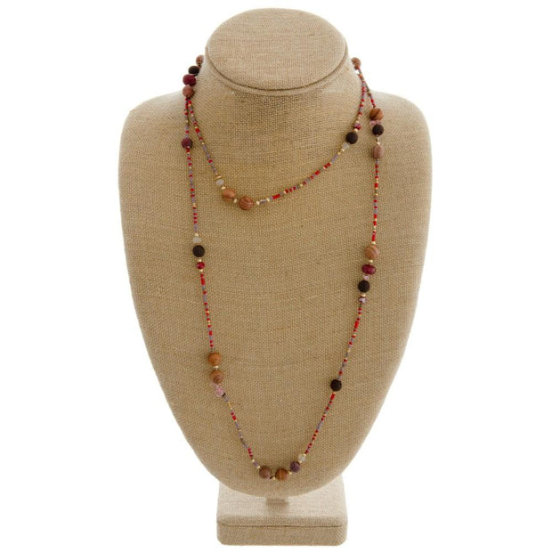Billie Beaded Wrap Necklace - Fruit of the Vine