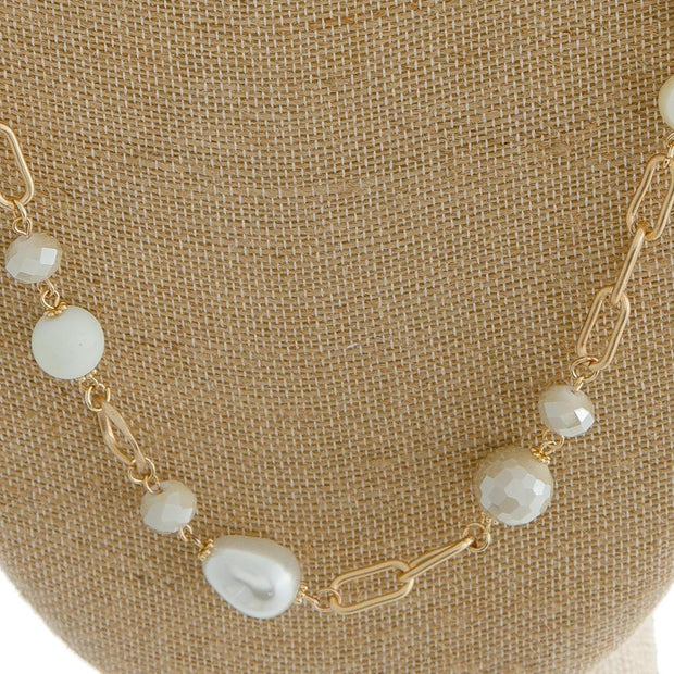 Long Pearl Beaded Necklace - Fruit of the Vine