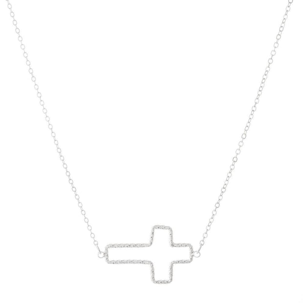 East West Dainty Cross Necklaces
