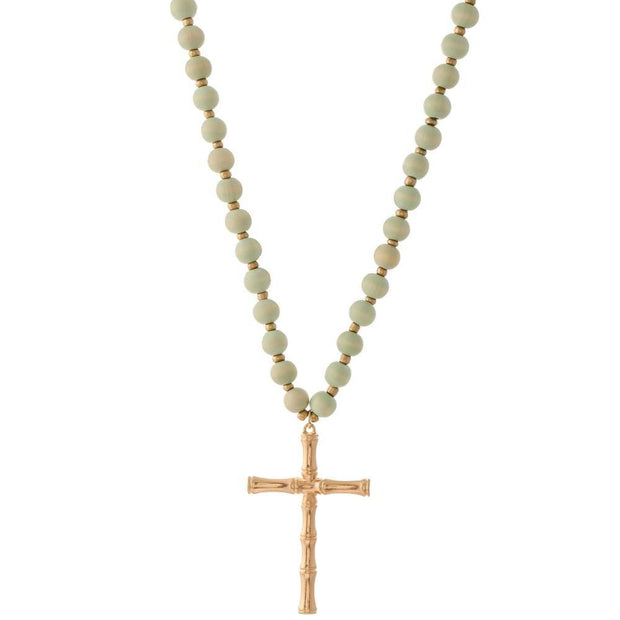 Bailey Bamboo Cross Necklaces | Fruit of the Vine Boutique
