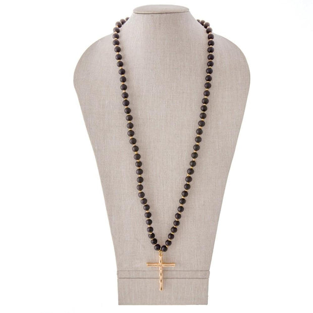 Bailey Bamboo Cross Necklaces - Fruit of the Vine
