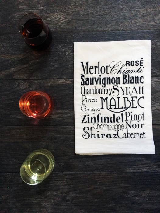 Wine Words Cotton Tea Towel - Fruit of the Vine
