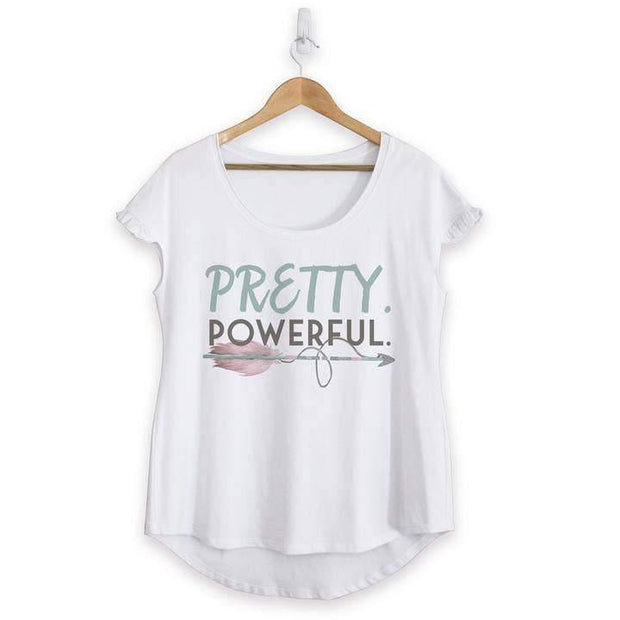 Pretty Powerful Cotton Ruffle Tee | Fruit of the Vine Boutique