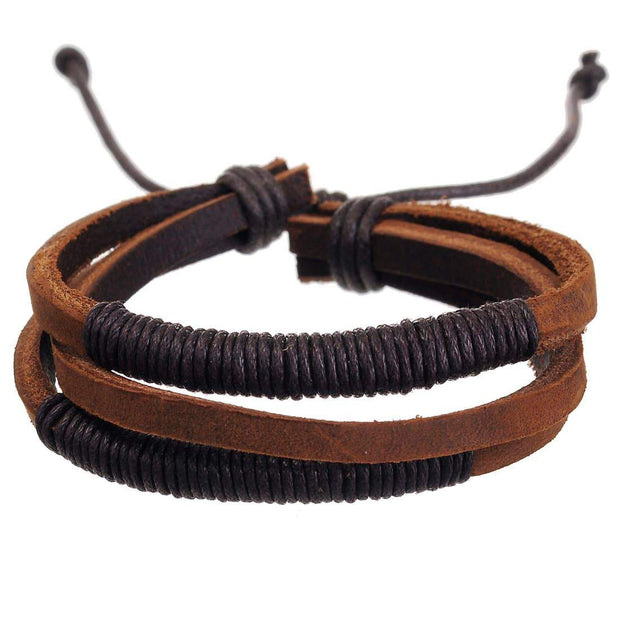 Men's Madison Leather Bracelet - Fruit of the Vine