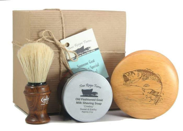 Men's Goat Milk Shaving Soap Gift Set