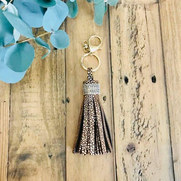 Leather Classic Tassel Keychains | Fruit of the Vine Boutique