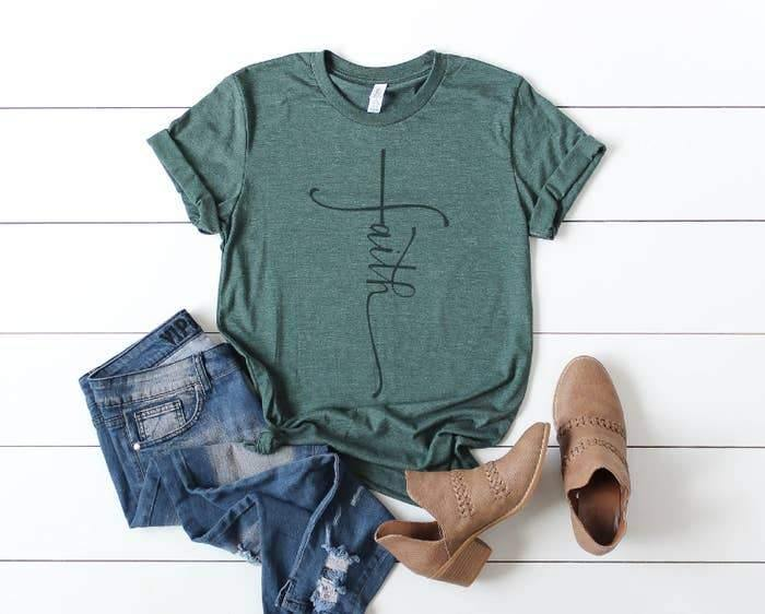 Green Faith Tee