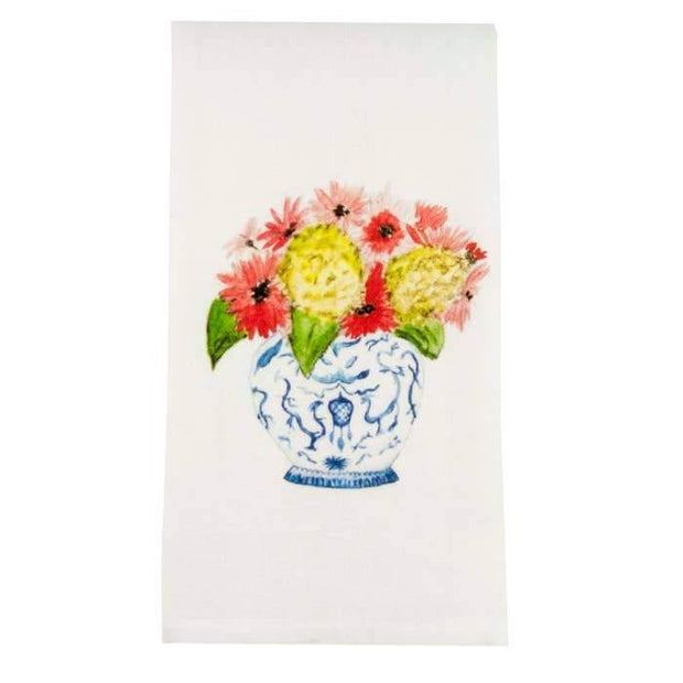 Ginger Jar Bouquet Tea Towel