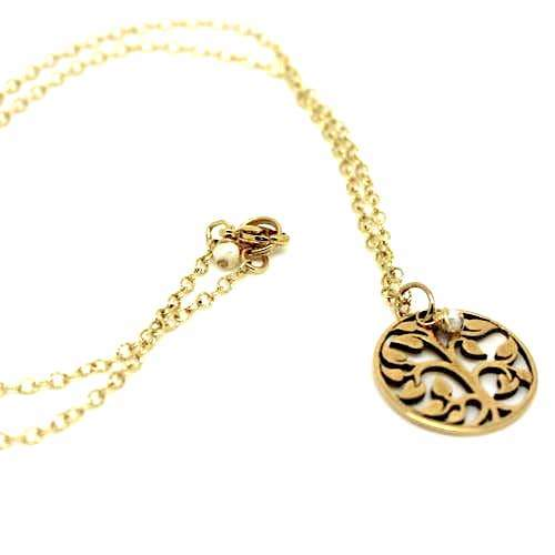 Brass Tree of Life Necklace - Fruit of the Vine