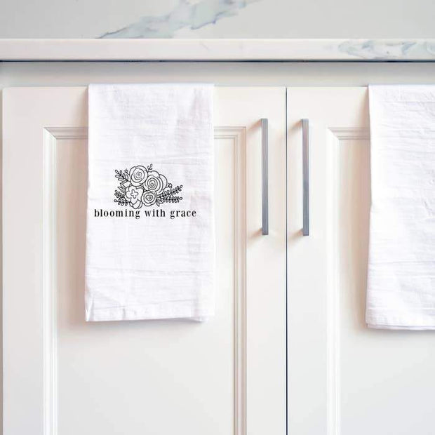 Blooming with Grace Tea Towel - Fruit of the Vine