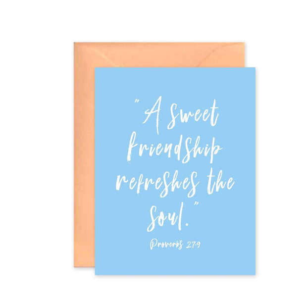 Friendship Refreshes the Soul Greeting Card - Fruit of the Vine