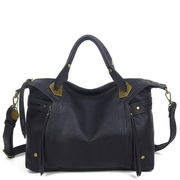 The Ali Satchel in Black - Fruit of the Vine