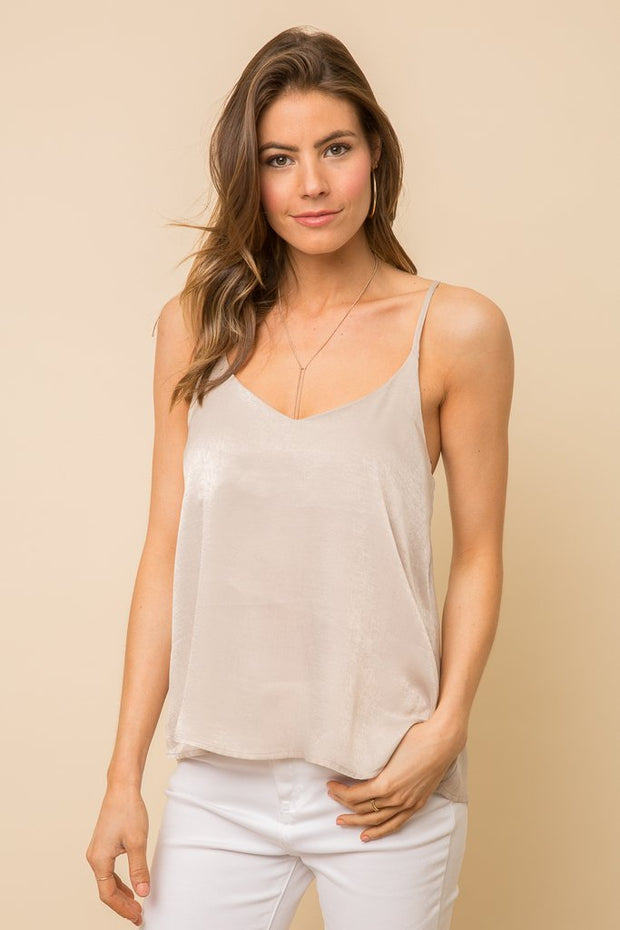 Mystree Satin Tank Top