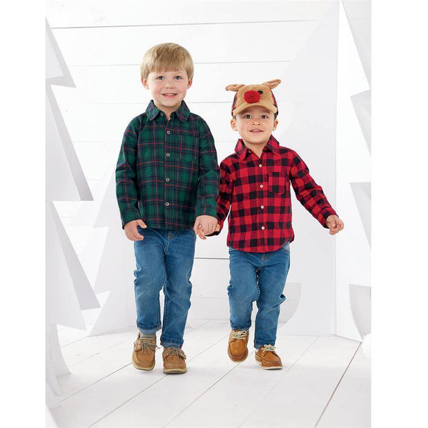 Reindeer Buffalo Check Hat | Mud Pie