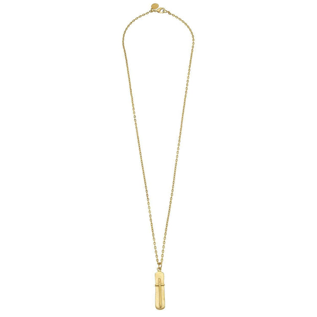 Gold Bar Cross Necklace | Susan Shaw | Fruit of the Vine Boutique