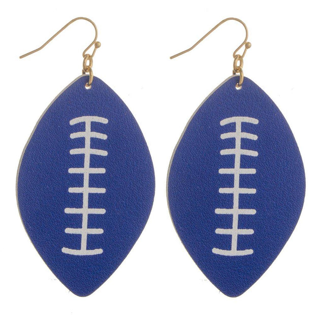 Blue Football Earrings | Fruit of the Vine Boutique