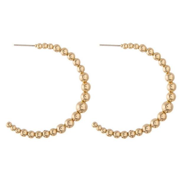Reid Beaded Hoops