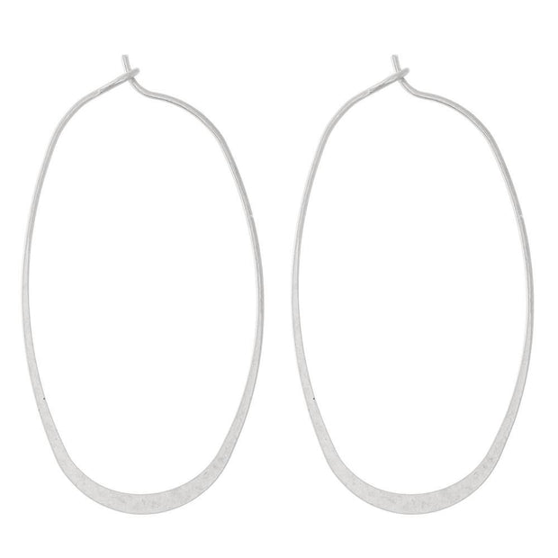 Kay Flat Hoop Earrings