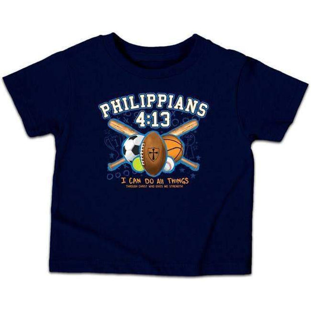 All Things Sports Philippians 4:13 Kids Tee