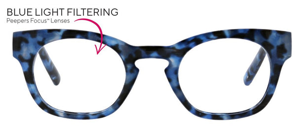 Peepers Nordic Noir Blue Light Reading Glasses - Fruit of the Vine
