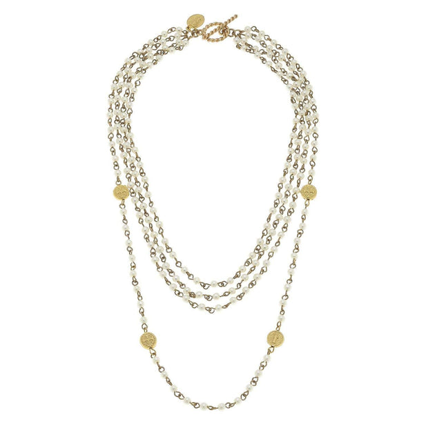 Ivory Linked Pearl Necklace | Susan Shaw | Fruit of the Vine Boutique