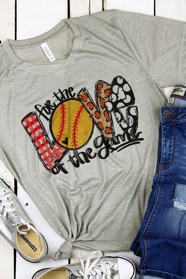 For the Love of the Game Softball Graphic Tee | Fruit of the Vine Boutique