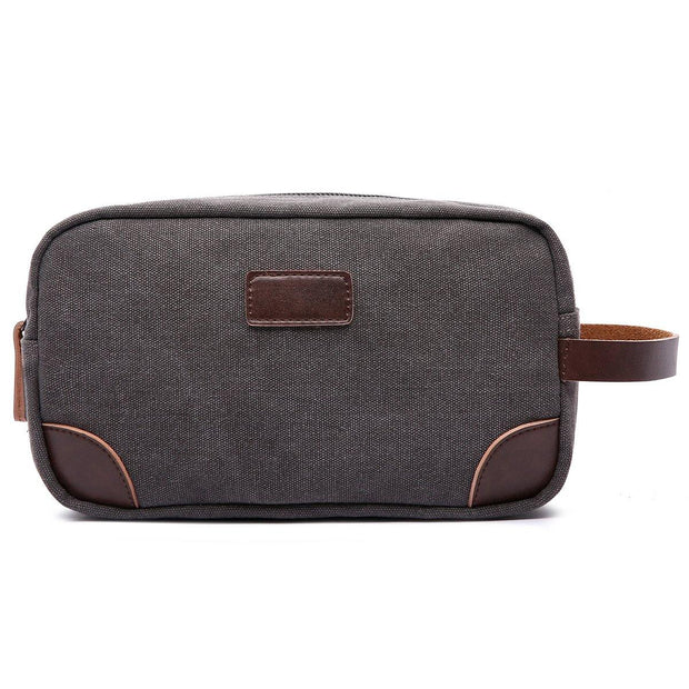 Canvas and Leather Dopp Kit | Fruit of the Vine Boutique