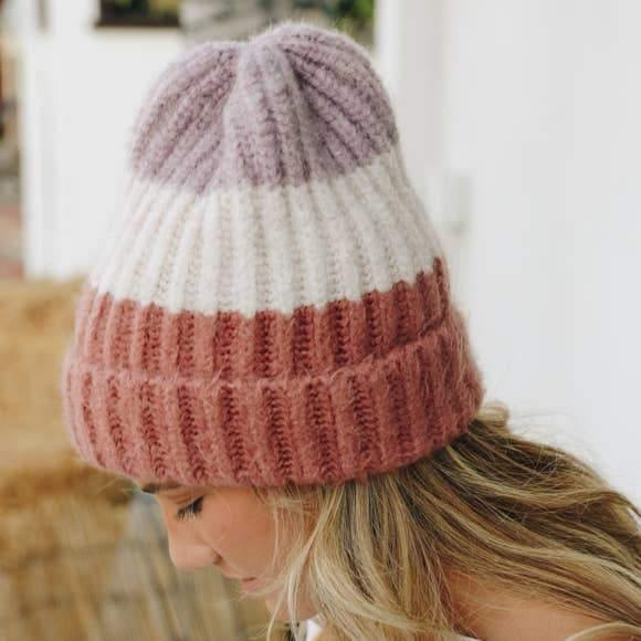 Color Block Knit Beanies