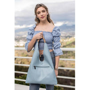 Tan & Blue Tess Reversible Hobo - Fruit of the Vine