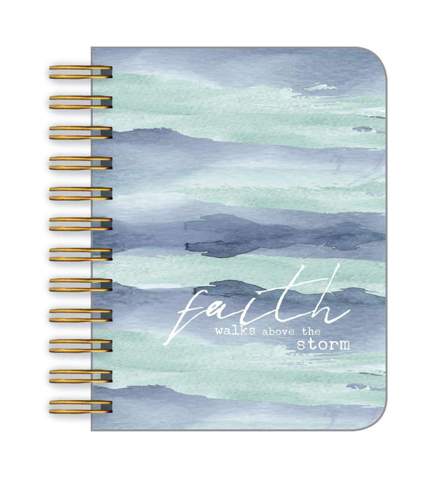Faith Walks Above the Storm Little Spiral Notebook | Fruit of the Vine Boutique